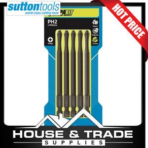 Sutton Tools Impact Driver Bits 100mm PH2 Phillips Magnetic SupaBit S15102100