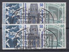 Berlin Zusammendruck gest W 85- W 86 aus MH 14 Sehenswürdigkeiten Sonderstempel