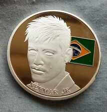 Neymar Jr Copa del Mundo de Brasil 2014 Moneda de Plata medalla Latino FC Barcelona europeo fa