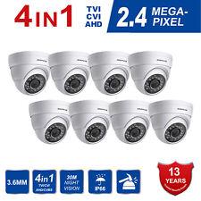 Anpviz (8 set)  2.4MP 4 in 1 TVI/CVI/AHD/CVBS Outdoor IR Dome Security Camera