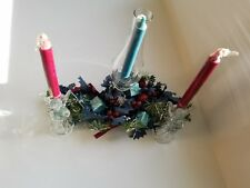 Table Centerpiece Glass Hurricane Angel Candle Crystal Candelabra Candlestick