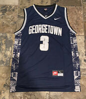 Hoyas Allen Iverson #3 University of Georgetown Basketball Jersey Size Large
