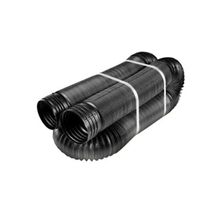 Perforated Drainage Pipe 4 In. X 50 FT. Flexible Drain Black Water Tubing New