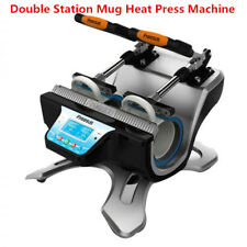 220V Mini Automatic Double Station Mug Heat Pressess Machine, High Quality