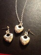 CUORE BORCHIE e Collana di corrispondenza di colore argento