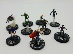 Marvel Universe Heroclix 9 Loose Figure Pieces Lot (No Cards) No Duplicates 2007