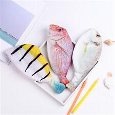 Silver Carp Fish-like Zipper Pen & Make-up Pouch Pencil Case Funny Rare 3 Model