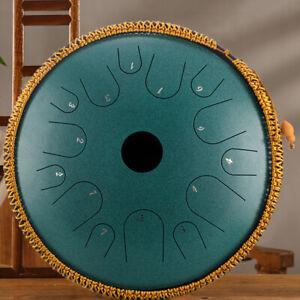 14'' C Dur Stahlzungen Trommel Handpan Handpfanne Steel Tongue Drum mit Tasche