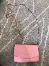 Pink Chanel Wallet On A Chain WOC