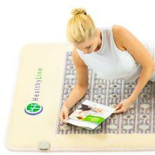 "HealthyLine Amethyst+Jade+Tourmaline InfraRed Heating Energy Mat Pad 80"" x 40"""