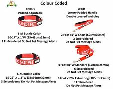 White Blind Dog Helpful Easy Walking Adjustable S M L Collars and Leads by Dexil Do Not Pet Red 4 Foot Standard Lead Only
