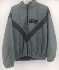Skilcraft US Army Nylon Gray Windbreaker Jacket Mens M, Medium