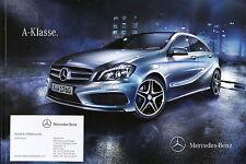 Prospekt 2012 mercedes clase a 176 auto folleto 18.5.12 brochure auto automóviles 9 12