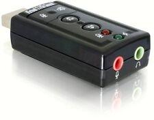 Cle USB Carte son externe 7.1 / Audio Micro 3D Stereo ordinateur Ecouteur PC