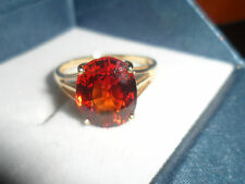 BEAUTIFUL RING 18K MANDARIN GARNET GOLD RING 4.338 FROM NIGERIA RARE,18K RING .