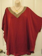 NWT - MELISSA PAIGE short sleeve top w/Gold-tone trim - sz 1X - MSRP $68.00
