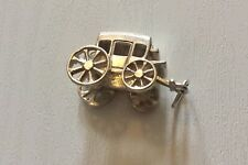 Lovely Vintage Solid Silver Carriage Charm