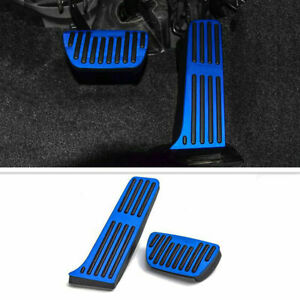 2Pcs blue No Drilling Gas Brake Foot Pedal Cover AT For Toyota Camry 2018 19-21