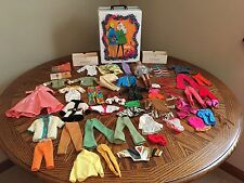 THE WORLD OF BARBIE DOLL TRUNK 1968 WITH VINTAGE CLOTHES AND ACCESSORIES