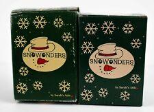 "Sarahs Attic - Snow Wonders - Lot Of 2 2004 ""Rosie"" & ""Christmas Figurine"""