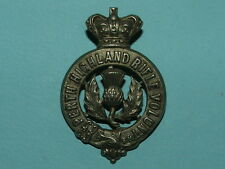 RARE VICTORIAN PERTH HIGHLAND RIFLE VOLUNTEERS CAP BADGE - 100% ORIGINAL!!!