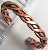 Copper /& Magnets Bracelet Wheeler Arthritic Sciatica Pain Healing NEW CBM 155