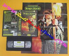 VHS film ROBIN HOOD Principe dei ladri Kevin Costner CON POSTER (F137) no dvd
