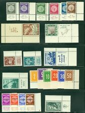 ISRAEL : Beautiful collection of all different early tabs. All PO Fresh & VF MNH