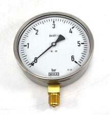 """WIKA Ø160mm Manometer 9041710 unten 0 - 6 bar 0-6bar G 1/2"""" 212.20.160 NEU OVP"""