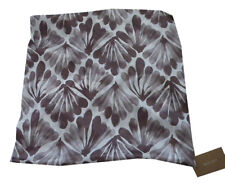 West Elm Fanned Diamond Silk Pillow Cover - Dark Iris