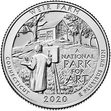 USA : 2 quarters Parcs Nationaux WEIR FARM - 2020 P & D - NEUVES UNC