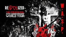 W.A.S.P. 2017 THE CRIMSON IDOL REIDOLIZED 25TH ANNIVERSARY TOUR PROMO POSTER #2