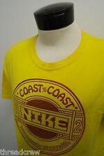 NIKE ORIGINAL RUNNING CO. Yellow Reg Fit Coupe workout t-shirt sz L mens SS#2887