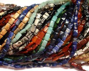 Semi Precious Stone, Chalcedony Glass - 8x12mm, 10X14mm Puff Rectangle Beads
