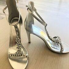 Novo Silver Diamonte Heels, Size 9