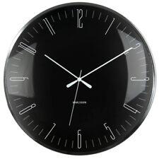 Wanduhr Dragonfly Aluminium schwarz Kuppelglas Uhr Quarzuhr geräuschlos 40 cm