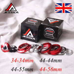 """JESSICA Straight/Tapered Double Bearing Headsets For 1-1/8"""" Threadless Fork Tube"""