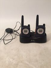 2 Cobra Micro Talk Radio Walkie Talkies with Desktop Charger FA-CG As Is