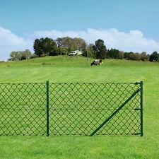 [pro.tec]® Maschendrahtzaun Set Maschendraht 1,5x25m Gartenzaun Zaun Zaunset