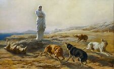 Pallas Athena and the Herdman's Dogs by Briton Riviere Old Masters 11x19 Print