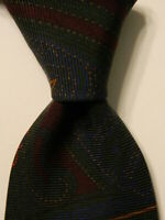 FACONNABLE Men's 100% Silk Necktie ITALY Luxury Geometric Multi-Colored NWT $125