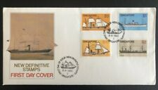 Singapore FDC 1980 Ships High Value Definitives