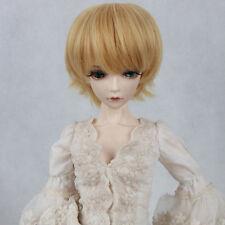 """BJD Doll Hair Wig 7-8"""" 1/4 SD DZ DOD LUTS Golden Contra Warping Short Hair"""