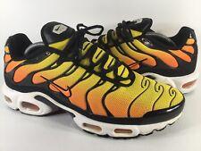 Nike Air Max Plus Tn Sunset Yellow Black Orange White 2014 Mens Size 11 Rare