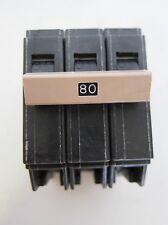 New Cutler Hammer 3 Pole Circuit Breaker CH3080 80 Amp