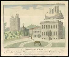 1768 ESSEX - Original Antique Engraving HEDINGHAM CASTLE Halstead Sudbury (08)