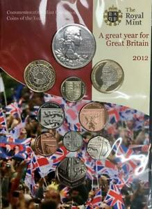 2012 Royal Mint Annual Brilliant Uncirculated 10 Coin Set - Sealed package