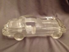 Hofbauer W. Germany Art Glass Crystal Frosted Car Paperweight Corvette Stingray