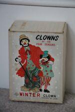 Vintage Yona Origional Winter Clown Figurine 1958 in Origional box