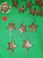 USSR Soviet Army Green STAR Hat Cap Badge Cockade Enamel Pin Hammer & Sickle
